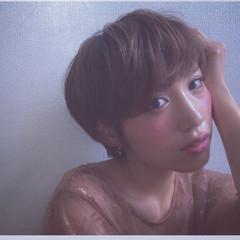 マッシュ ショート パーマ 小顔 ヘアスタイルや髪型の写真・画像