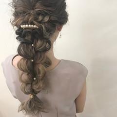 波ウェーブ ナチュラル 外国人風カラー ロング ヘアスタイルや髪型の写真・画像