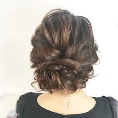 結婚式 ヘアアレンジ ミディアム デート ヘアスタイルや髪型の写真・画像