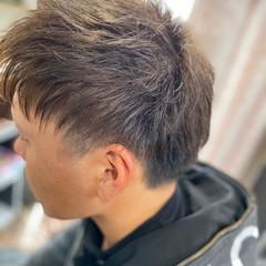 ショート グラデーションカラー ストリート ツーブロック ヘアスタイルや髪型の写真・画像