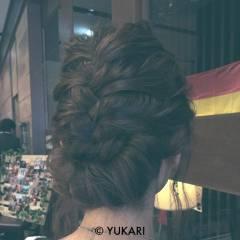 ヘアアレンジ 波ウェーブ 結婚式 アップスタイル ヘアスタイルや髪型の写真・画像
