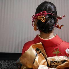 振袖 成人式 和装 アップスタイル ヘアスタイルや髪型の写真・画像