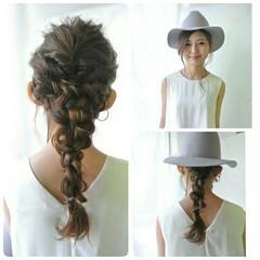 簡単ヘアアレンジ ロープ編み ロング ヘアアレンジ ヘアスタイルや髪型の写真・画像
