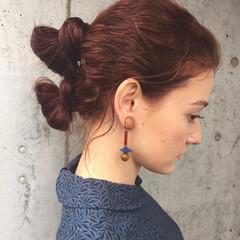パーマ ヘアアレンジ ニュアンス 簡単ヘアアレンジ ヘアスタイルや髪型の写真・画像