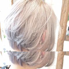 スポーツ ホワイト ストリート ホワイトアッシュ ヘアスタイルや髪型の写真・画像