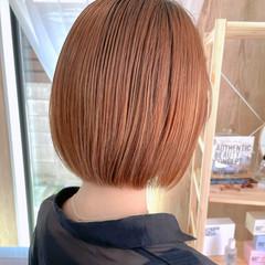 まとまるボブ ショートヘア 切りっぱなしボブ ボブ ヘアスタイルや髪型の写真・画像