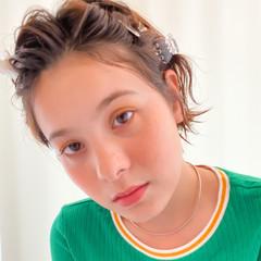 透明感 ヘアピン ウェットヘア 簡単ヘアアレンジ ヘアスタイルや髪型の写真・画像