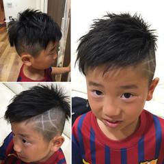 メンズ ストリート ショート 斜め前髪 ヘアスタイルや髪型の写真・画像