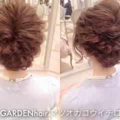 ヘアアレンジ コンサバ ルーズ 結婚式 ヘアスタイルや髪型の写真・画像