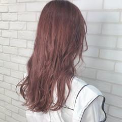 ロング ラベンダーピンク ピンクアッシュ ピンクベージュ ヘアスタイルや髪型の写真・画像
