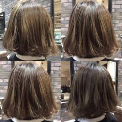 ボブ ハイライト 暗髪 モード ヘアスタイルや髪型の写真・画像