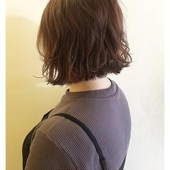 ガーリー ボブ 切りっぱなしボブ ミニボブ ヘアスタイルや髪型の写真・画像