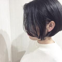外国人風 ボブ 色気 アッシュ ヘアスタイルや髪型の写真・画像