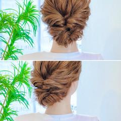 セルフヘアアレンジ くるりんぱ ヘアアレンジ アップスタイル ヘアスタイルや髪型の写真・画像