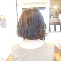 ウェーブ ガーリー マット ボブ ヘアスタイルや髪型の写真・画像