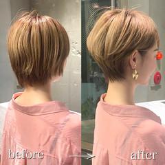 ショートボブ ショートヘア 30代 40代 ヘアスタイルや髪型の写真・画像