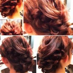 結婚式 パーティ 大人かわいい ヘアアレンジ ヘアスタイルや髪型の写真・画像