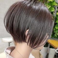 グレージュ インナーカラー ボブ ミニボブ ヘアスタイルや髪型の写真・画像