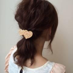 ヘアアレンジ ミディアム 波ウェーブ ヘアスタイルや髪型の写真・画像