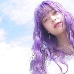 外国人風 ダブルカラー ハイライト ロング ヘアスタイルや髪型の写真・画像