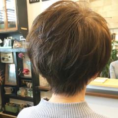 ナチュラル ショートヘア 大人かわいい ショート ヘアスタイルや髪型の写真・画像