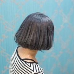 ボブ アッシュ ベージュ ストリート ヘアスタイルや髪型の写真・画像