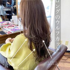 ウルフカット レイヤーカット フェミニン レイヤーヘアー ヘアスタイルや髪型の写真・画像