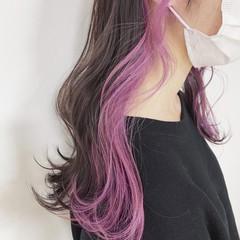 ピンク ラベンダー ベリーピンク ロング ヘアスタイルや髪型の写真・画像