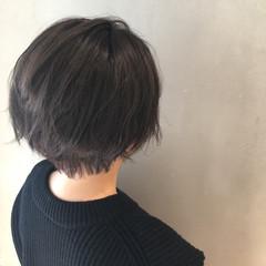 グラデーションカラー 暗髪 外国人風 ショート ヘアスタイルや髪型の写真・画像