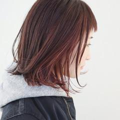 ストリート 外国人風カラー ピンク インナーカラー ヘアスタイルや髪型の写真・画像