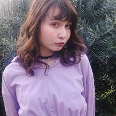 セミロング フェミニン 春 ヘアアレンジ ヘアスタイルや髪型の写真・画像
