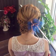 デート 結婚式 ヘアアレンジ ガーリー ヘアスタイルや髪型の写真・画像