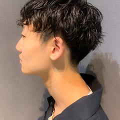 メンズパーマ メンズカット ストリート ショート ヘアスタイルや髪型の写真・画像