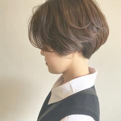 ナチュラル かっこいい ショート マッシュ ヘアスタイルや髪型の写真・画像