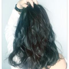 ストリート ゆるふわ 暗髪 ふわふわ ヘアスタイルや髪型の写真・画像