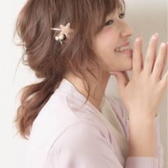 シースルーバング ガーリー セミロング 外国人風 ヘアスタイルや髪型の写真・画像