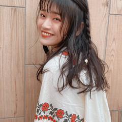 ロング ナチュラル セルフアレンジ ヘアアレンジ ヘアスタイルや髪型の写真・画像