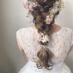 ロング 結婚式 二次会 エレガント ヘアスタイルや髪型の写真・画像