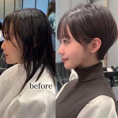 ショート ヘアスタイル ショートボブ モード ヘアスタイルや髪型の写真・画像