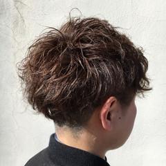 ボーイッシュ パーマ 刈り上げ ストリート ヘアスタイルや髪型の写真・画像