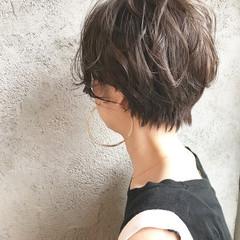 ナチュラル 小顔 ショート ショートボブ ヘアスタイルや髪型の写真・画像