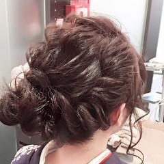 セミロング 謝恩会 二次会 結婚式 ヘアスタイルや髪型の写真・画像