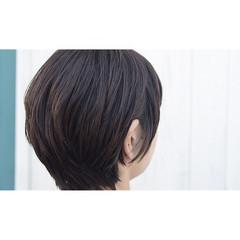 マッシュ 小顔 ショート ショートボブ ヘアスタイルや髪型の写真・画像