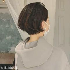 アンニュイほつれヘア ストレート ハイライト モード ヘアスタイルや髪型の写真・画像