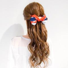 簡単ヘアアレンジ ロング ヘアアレンジ 上品 ヘアスタイルや髪型の写真・画像