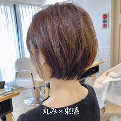 簡単ヘアアレンジ ナチュラル ショートヘア ショートボブ ヘアスタイルや髪型の写真・画像