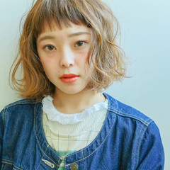 パーマ ショート ガーリー ミルクティー ヘアスタイルや髪型の写真・画像