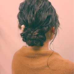 大人女子 ミディアム ヘアアレンジ 冬 ヘアスタイルや髪型の写真・画像