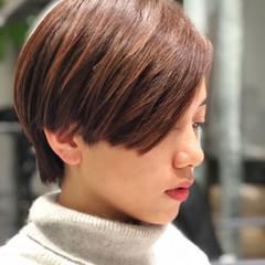 ショート こなれ感 小顔 外国人風カラー ヘアスタイルや髪型の写真・画像