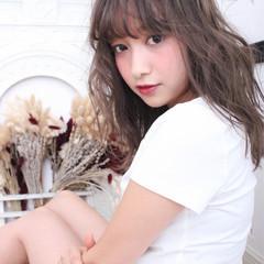 大人かわいい アッシュ 外国人風 セミロング ヘアスタイルや髪型の写真・画像